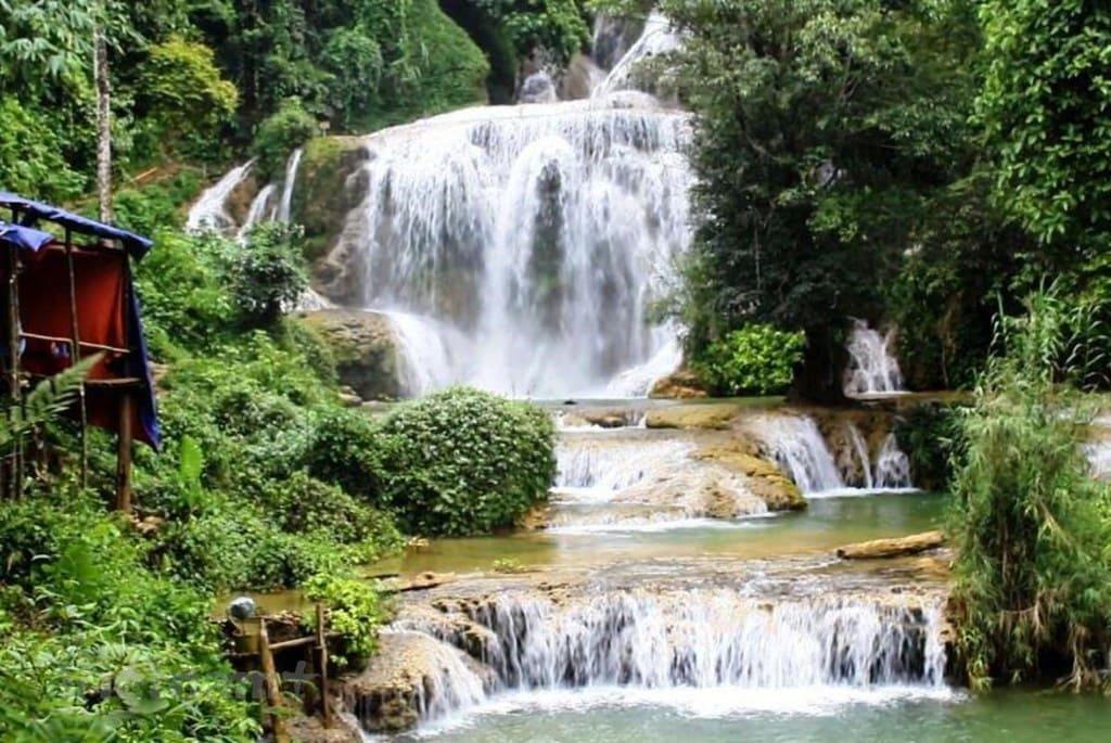 Vẻ đẹp hoang sơ hùng vĩ của thác Mu, Hòa Bình