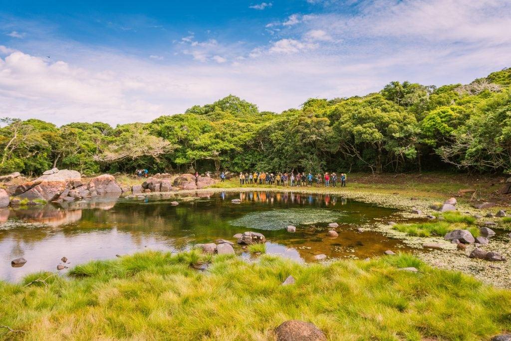 Hồ Cô đơn trên chuyến tour trekking 8 nàng tiên