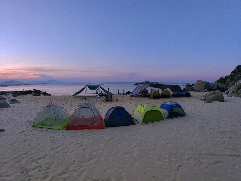 Review tour cắm trại Vũng Bồi Đề Gi - Quy Nhơn