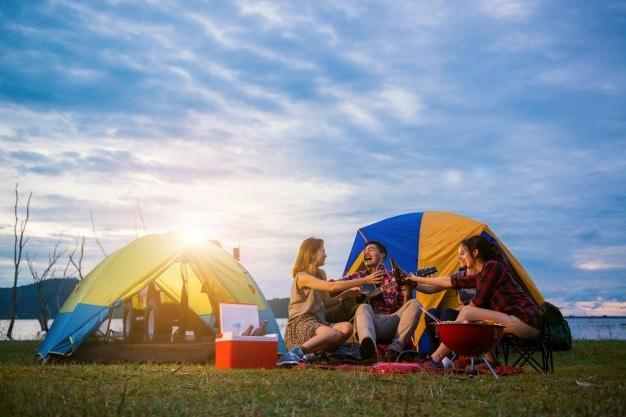 dựng và hạ lều trại