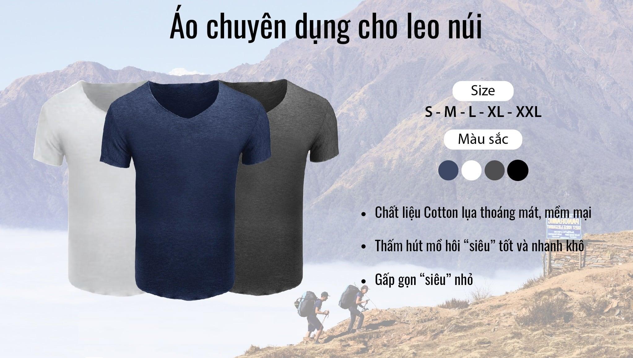 Áo leo núi body cotton giá rẻ dành cho nam nữ