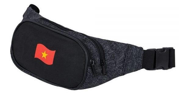 Túi đeo leo núi đeo bụng cao cấp hình lá cờ