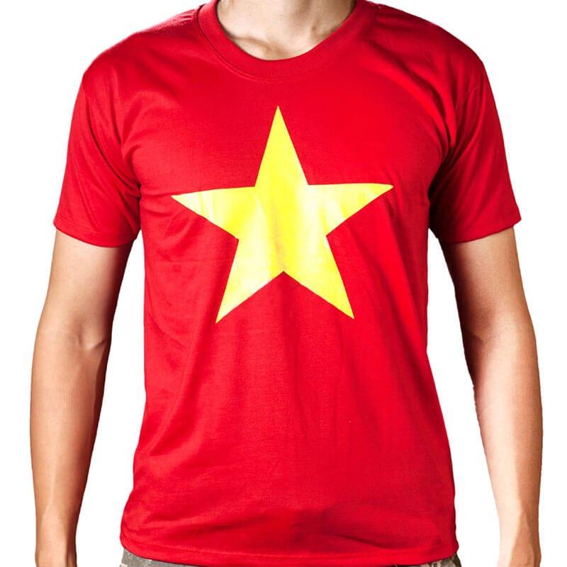 Áo cờ đỏ sao vàng giá rẻ nhất thị trường