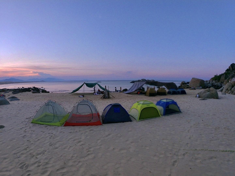 cắm trại ở Quy Nhơn
